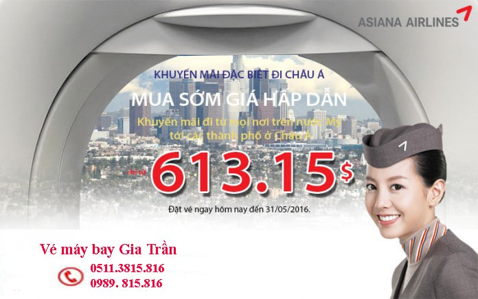 ve may bay asiana