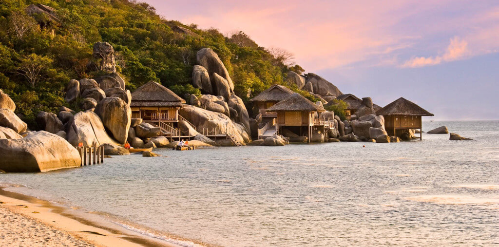 Khu nghỉ dưỡng Six Senses Ninh Vân Bay Nha Trang. Ảnh: ST