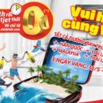 Bay nội địa và quốc tế miễn phí cùng Vietjet