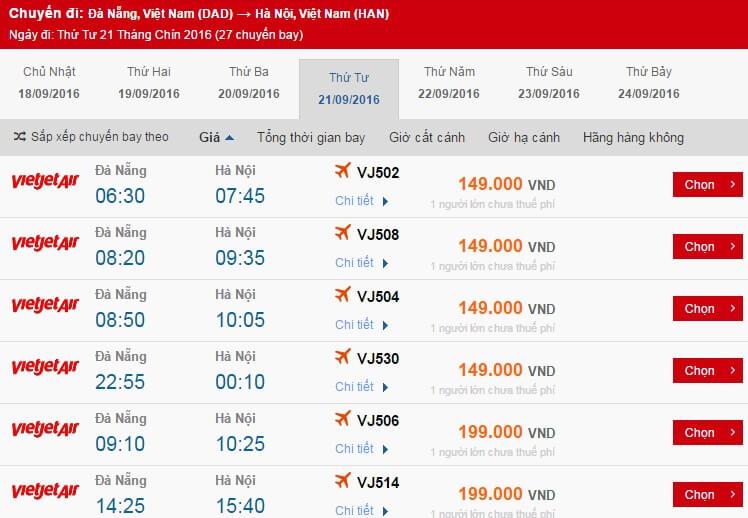 vé máy bay đi Hà Nội tháng 9
