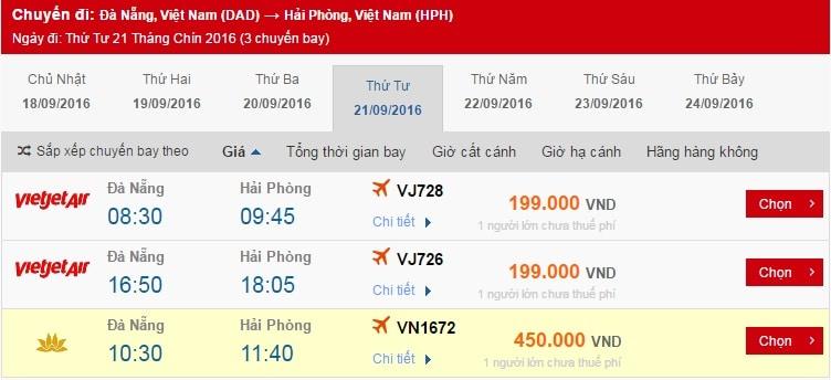 Vé máy bay đi Hải Phòng giá rẻ nhất
