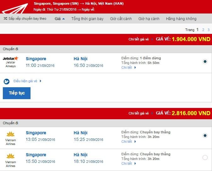 Vé máy bay quốc tế đi Hà Nội