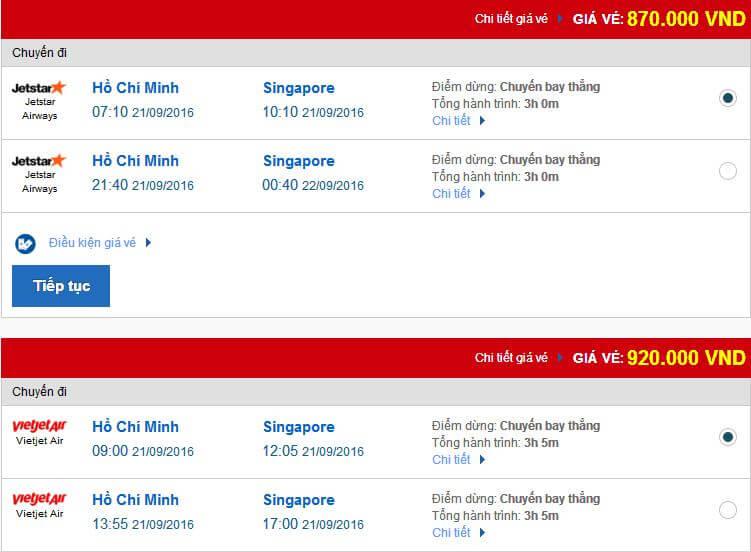vé máy bay đi singapore trực tuyến giá rẻ