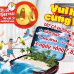 Vietjet khuyến mãi các đường bay quốc tế giá 0 đồng