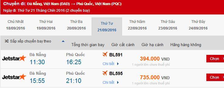 vé máy bay Đà Nẵng đi Phú Quốc