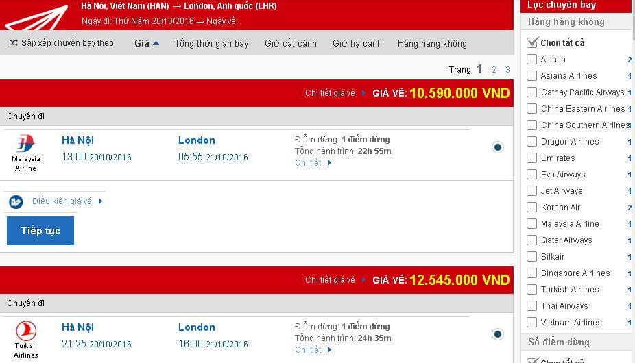 vé máy bay đi Anh