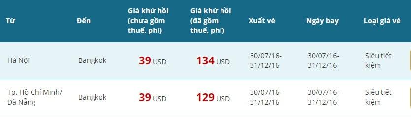 vé vietnam airline khuyến mãi giá rẻ