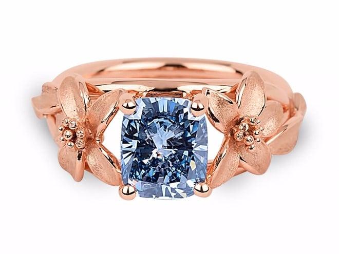 Chiếc nhẫn đính kim cương xanh quý hiếm nằm trong gói dịch vụ