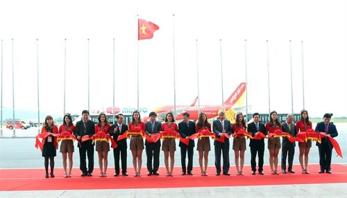 Lễ khai trương đường bay mới từ Hà Nội đi Huế và Đài Bắc của Hãng hàng không Vietjet