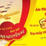 Vietjet khuyến mại trong dịp Tết với vé máy bay siêu rẻ kèm quà tặng