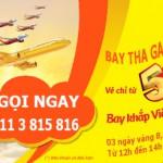 """Vé máy bay Vietjet 5000 đồng, """"BAY THẢ GA ĐẾN HẾT NĂM GÀ"""""""